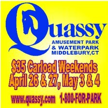 Quassy opens for the season April 26! $35 Carload weekends through May 4
