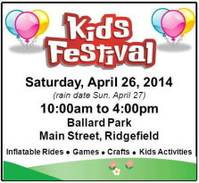 Kids Fest in Ridgefield - April 26, 2014 - FREE