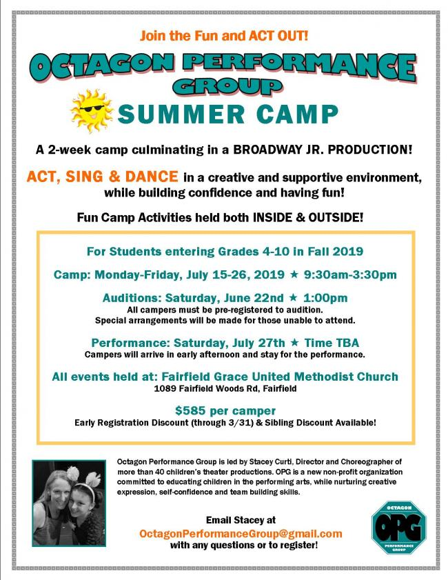 Octagon Performance Group Musical Theater Summer Camp | Kids